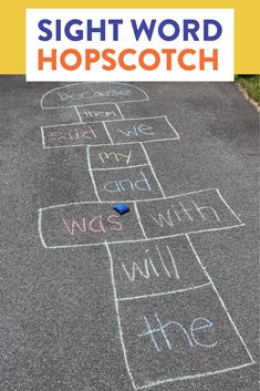 Sight word hopscotch is such a fun and easy way to have students practice their sight words! Check out the YouTube video to learn how to play.