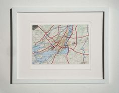 Montreal Map Embroidered by yinsteadofi on Etsy