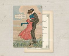 "Save the Date Wedding Invitations Vintage Deco Theme Set of 100 ""Inherit the Wind"". via Etsy."