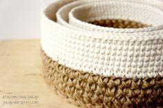 Stacking Baskets Crochet Pattern
