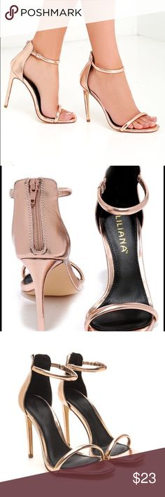 """Lilliana Rose Gold Single Sole Heels Brand New Never worn, no box. Size 8 fits true to size. 4.5"""" heel height. Retail currently $28 on lulus.com so price is firm 😊 Liliana Shoes Heels"""
