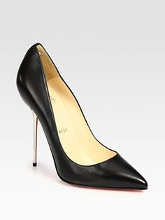 Christian Louboutin Leather Point Toe Pumps