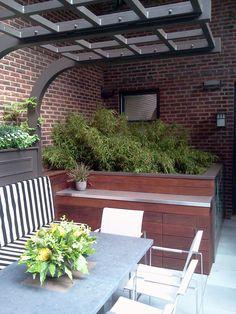 Chicago Roof Deck, urban, garden, landscape, design, pergola, outdoor furniture