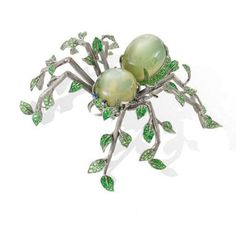 Lydia Courteille leaf spider brooch (=)