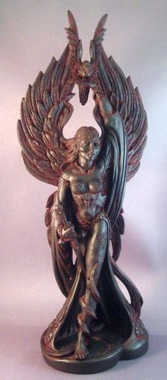 The Morrighan statue..a Celtic Goddess.