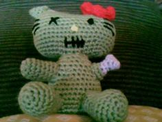 zombie hello kitty in crochet/amugurimi the link has also provided the pattern! wish i could crochet as i totally lovee zombie stuffs!