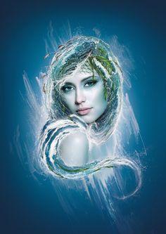 Zodiac Signs  |  Aquarius by Paweł Kozakowski, via Behance