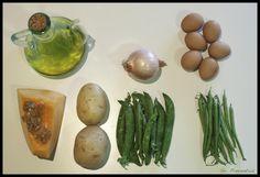 Ingredientes tortilla jardinera