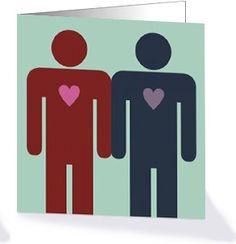 Homohuwelijk kaart uit de collectie 'Less is More' trouwkaarten van Kaart Op Maat. Deze kaart kun je helemaal bewerken en je kunt de mannen vervangen door vrouwen.