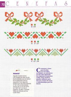 ru / Fotografie č. Cross Stitch Bookmarks, Cross Stitch Borders, Cross Stitch Charts, Cross Stitch Designs, Cross Stitching, Cross Stitch Embroidery, Cross Stitch Patterns, Cross Stitch Christmas Cards, Christmas Border