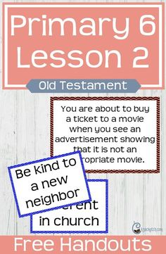 Seriously my favorite site for finding LDS primary lesson helps. This is for LDS Primary 6 Lesson 2: Jesus Christ was chosen to be our Savior