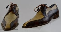 Mezlan Slash Mens Two Tone Leather Oxfords Mens 10 Medium Used #Mezlan #Oxfords