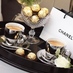 Darling a little Chanel with your coffee xoxoxo