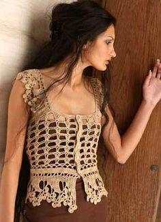 Stunning crochet vest