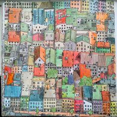 #stevemcdonald #artbysteve #fantasticcities #fantasticcolours #klausleidorf #artwork #art #artbook #artbook #colorbook #удивительныегорода #расскраскаантистресс #германия #germany #wasserburg #вассербург #bavaria #бавария Finished! Вассербург (буквально — «Замок на воде») был основан в 784 году. В то время он располагался на острове и принадлежал Монастырю Святого Галла. Спустя шестьсот лет, замок перешёл под власть графов фон Монфорт, которые, в свою очередь, продали его Фуггерам в 1592…