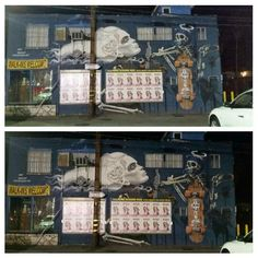 Famous StreetArtist Asylum left this mural on the side of Paper Scissors Rock Beauty Salon on Pacific Ave. & 27th Pl. in Venice, California.