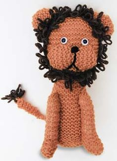 Lenny the Lion knitted toy pattern