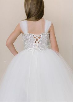 Wedding Dresses Ball Gown, Angelic Multi Layered Tulle Flower Girl Dresses with Rhinestone and Sequin Bodice DressilyMe Girls Pageant Dresses, Wedding Dresses For Girls, Ball Dresses, Ball Gowns, Tutu Dresses, Sequin Flower Girl Dress, Cute Flower Girl Dresses, Tulle Dress, Wedding Girl