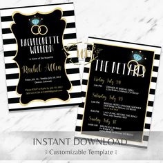 Bachelorette Party Invitation Template  Bachelorette Itinerary