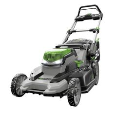 EGO 20 in. 56 Volt Lithium ion Cordless Battery Walk Behind Push Mower - Ah Battery/Charger - The Home Depot Gas Lawn Mower, Lawn Mower Battery, Riding Lawn Mowers, Home Depot, Electric Mower, Cordless Lawn Mower, Self Propelled Mower, Walk Behind Lawn Mower, Sons