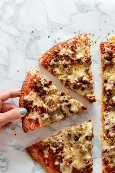Mouthwatering. So satisfying. All your favorite pizza flavors, layered on top of a crunchy, cheesy, keto crust that you can eat with your fingers!