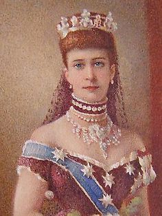 Beautiful portrait miniature of Princess Alexandra by royal artist W. C. Bell