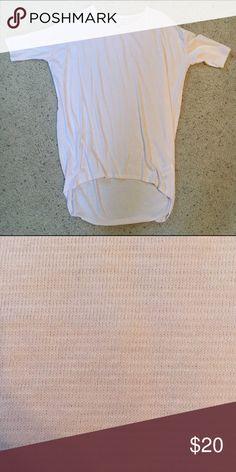 LuLaRoe XXS Light pink/white striped Irma Worn and washed once per LuLaRoe instructions. LuLaRoe Tops Tunics