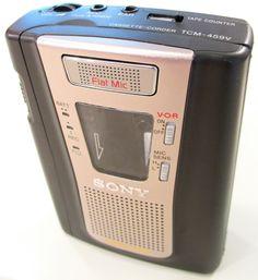 Sony TCM459V Portable Cassette Player/Recorder