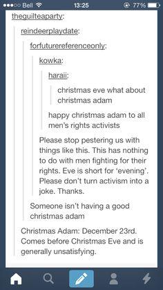 Merry Christmas Adam and Eve everyone! xD