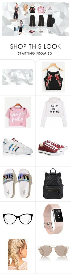 """pantacourt"" by tata-do-vale on Polyvore featuring moda, adidas, Converse, Hollister Co., Accessorize, Fitbit e Christian Dior"