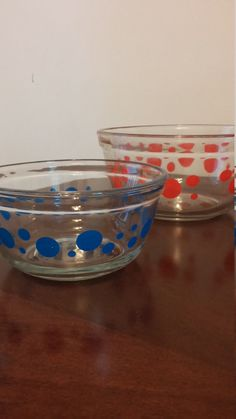 vintage anchor hocking RARE dots mixing bowl by HappyVintageStudio