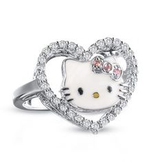 wedding lady the addict hello kitty wedding rings so cutie ideas hello kitty wedding rings Hello Kitty Purse, Hello Kitty Jewelry, Hello Kitty Items, Hello Kitty Wedding, Hello Kitty Birthday, Sanrio, Miss Kitty, Heart Shaped Rings, Hello Kitty Collection
