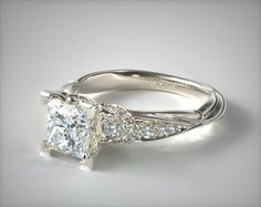 Vintage Inspired Engagement Rings, Engagement Rings Princess, Beautiful Engagement Rings, Engagement Ring Styles, Designer Engagement Rings, Diamond Engagement Rings, Wedding Jewelry, Wedding Rings, Ring Settings