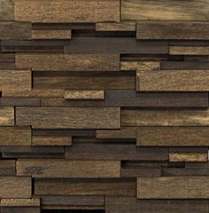 Wood modul brick tile for feature wall in entrance / stair well