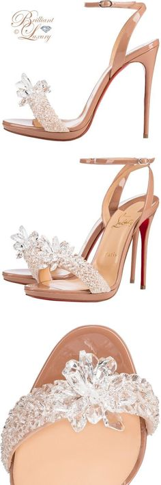 Brilliant Luxury by Emmy DE ♦ Christian Louboutin'Crystal Queen' #weddingshoes
