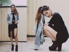 Sammy Dress Black Dress, Apex Shoes Jeffrey Campbell Litas, Jay Jays Denim Jacket