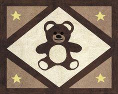 Teddy Bear Chocolate Accent Rug- Baby Decor