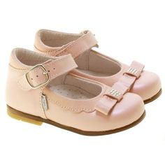 Picture of Italian Made Girls Pink Leather Shoes me0111a3e shoes pink 3