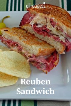 These sandwiches are really delicious and easy to make. They are one of my family& fix-it-quick favorites. I like to serve them with big bowls of steaming vegetable soup and dill pickles on the side. Sandwiches For Lunch, Soup And Sandwich, Sandwich Recipes, Lunch Recipes, Beef Recipes, Cooking Recipes, Sandwich Ideas, Copycat Recipes, Reuben Sandwich