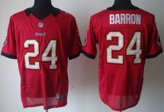 Nike Tampa Bay Buccaneers #24 Mark Barron Red Elite Jersey