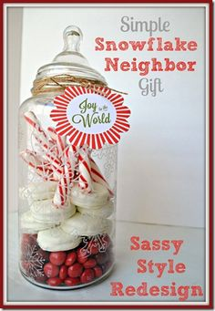 Simple Snowflake Neighbor gift