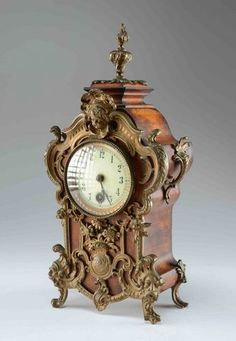 1887 Rococo Style Lenzkrich German Mantle Clock.  15.JPG