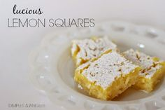 Dimples and Tangles: THE BEST LEMON SQUARES I'VE EVER HAD!