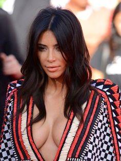 Mid length hair** - Kim Kardashian.