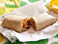 Brown Rice and Bean Burrito