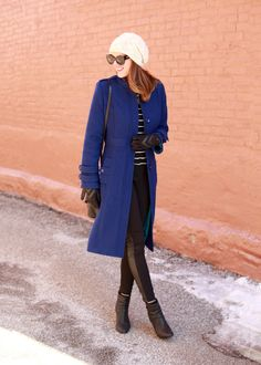 What I Wore | Blue Christmas, Jessica Quirk, Simplicity 2057, whatiwore.tumblr.com, #fashionblogger (I made this coat!)