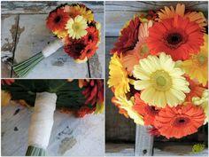 Ramo de novia elegre y colorido con gerberas. Mayula Flores