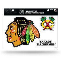 Chicago Blackhawks Team Magnet Set, Multicolor