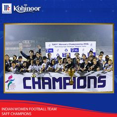 Kohinoor congratulates Indian Women Football team (Indian Eve's), on being crowned as the champions of SAFF Women's Championship 2016. Kudos to our Shining Women! #KohinoorWomenAchievers!