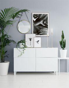 Inspiration till svartvit tavelvägg och collage | Posters med inredningsbilder online